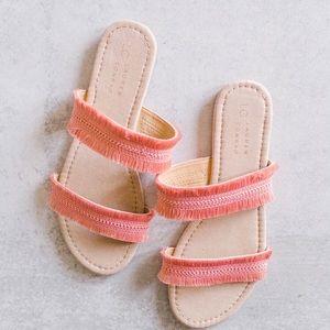 Pretty Lauren Conrad Fringe Sandals